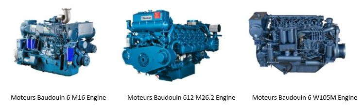 A few of the Moteurs Baudouin Engines we can support.