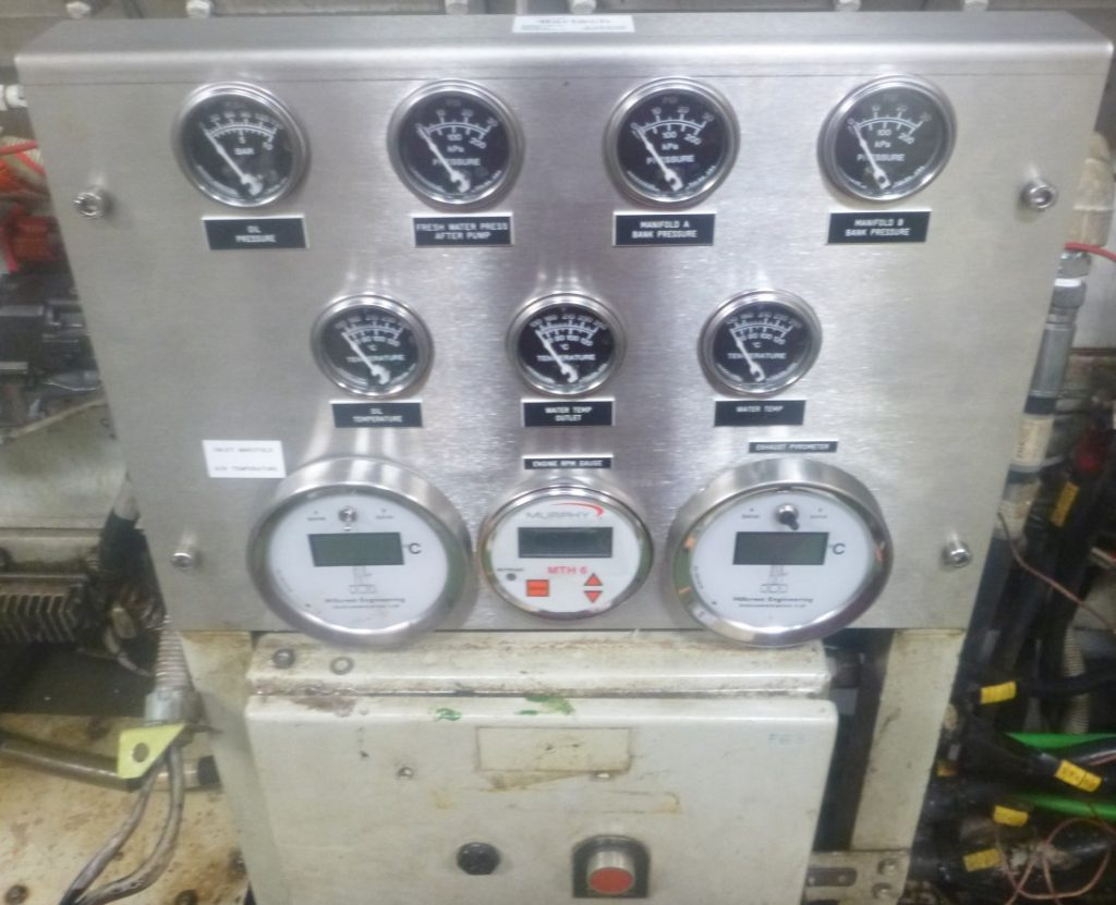 New custom made Gauge Panel made in-house at Bartech and installed on a Cummins engine for closer monitoring of engine parameters.
