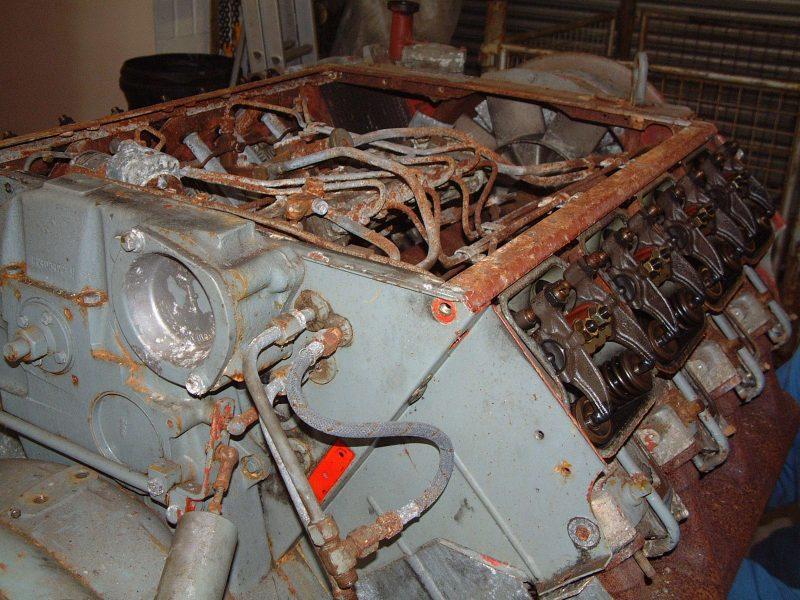 Bauer / Deutz compressor before overhaul