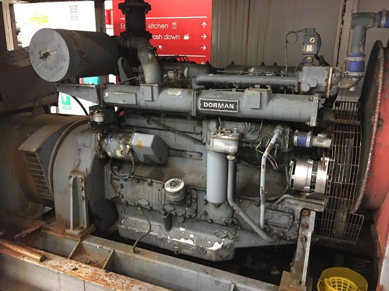 Dorman 6LDT Engine fitted in container on arrival at Bartech