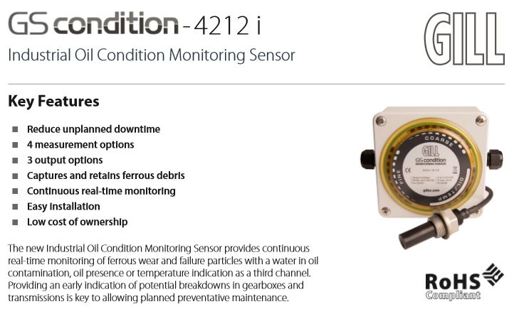 Real-time Oil Condition Monitoring with the GS condition-4212