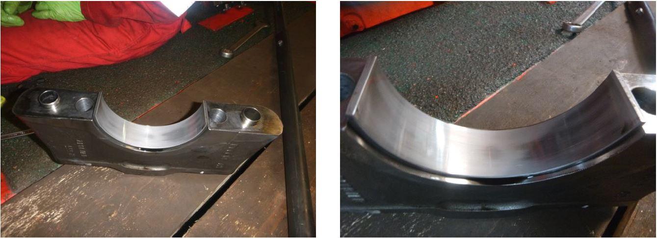 MTU Main journal bearing cap bearing shell condition