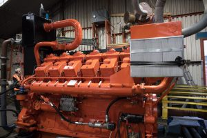 Waukesha L5792DSU Engine on test after a rebuild for one of our clients.