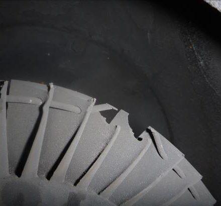 Turbine wheel damage