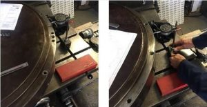 Clocking the spigot of the flywheel and the outside diameter